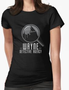 Wayne Detective Agency Womens Fitted T-Shirt