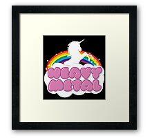 Heavy Metal Unicorn Rainbow  Framed Print