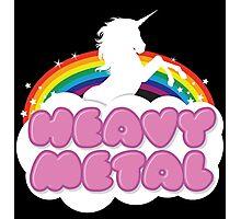 Heavy Metal Unicorn Rainbow  Photographic Print
