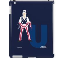 Uncle Sam - Superhero Minimalist Alphabet Clothing iPad Case/Skin