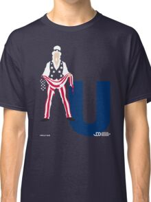 Uncle Sam - Superhero Minimalist Alphabet Clothing Classic T-Shirt