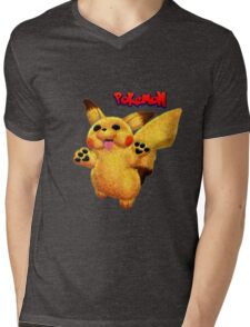 PokeMon pikachu Mens V-Neck T-Shirt