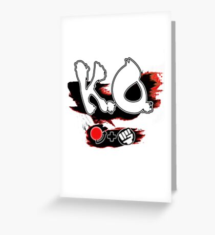 Knock Out Hadoken Greeting Card