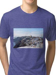 28 September 2016 View of white buildings in Santorini, Greece Tri-blend T-Shirt
