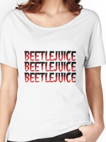 Beetlejuice! Beetlejuice! Beetlejuice! Red Women's Relaxed Fit T-Shirt