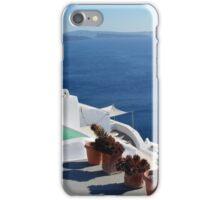View of white buildings in Santorini, Greece iPhone Case/Skin