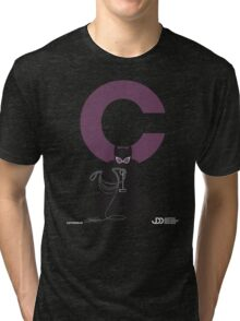 Catwoman - Superhero Minimalist Alphabet Clothing Tri-blend T-Shirt