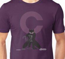 Catwoman - Superhero Minimalist Alphabet Clothing Unisex T-Shirt