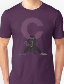Catwoman - Superhero Minimalist Alphabet Clothing T-Shirt