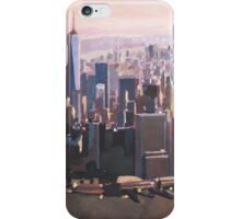 The unforgettable Skyline of New York City Manhattan with Freedom Tower at Dusk iPhone Case/Skin