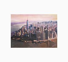 The unforgettable Skyline of New York City Manhattan with Freedom Tower at Dusk T-Shirt
