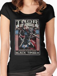 The God Of Thunder Galactic Women's Fitted Scoop T-Shirt
