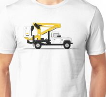 A Graphical Interpretation of the Defender 130 Single Cab Cherry Picker Unisex T-Shirt