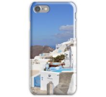 28 September 2016 View of white buildings in Santorini, Greece iPhone Case/Skin