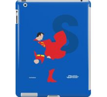 Superman - Superhero Minimalist Alphabet Clothing iPad Case/Skin