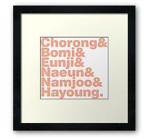 APink in Helvetica Framed Print