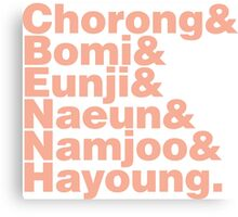 APink in Helvetica Canvas Print