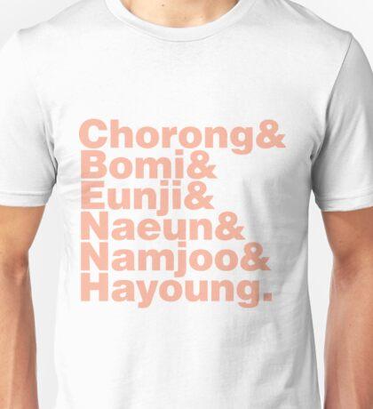APink in Helvetica Unisex T-Shirt