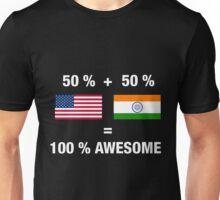 Half Indian Half American 100% India Unisex T-Shirt