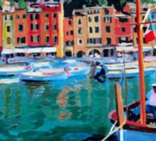 Tranquility in the Harbour of Portofino Sticker