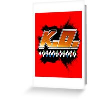 Knock Out 10 Hit Combo Greeting Card