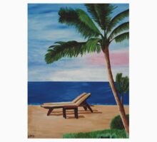 Caribbean Strand with Beach Chairs One Piece - Long Sleeve