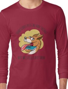 Dog Bites Cell Phone Long Sleeve T-Shirt