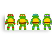 Pixellated Turtles Canvas Print