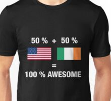 Half Irish Half American 100% Ireland Flag Unisex T-Shirt