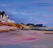 Long Island Beach Scene - Hamptons South Fork Beach Walk with House I  by artshop77