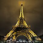 Eiffel at Night by Michael Stiso