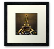 Eiffel at Night Framed Print