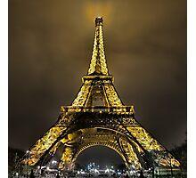 Eiffel at Night Photographic Print