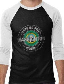 Have No Fear Washington Is Here Men's Baseball ¾ T-Shirt