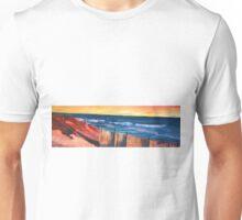 Long Island Beach Scene - Hamptons South Fork Beach Walk with Fence Unisex T-Shirt