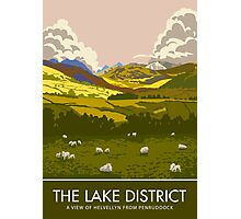 The Lake District, Helvellyn from Penruddock Photographic Print