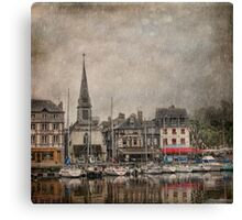 Honfleur in the Rain Canvas Print