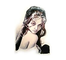 Claudia (Caricature style) Photographic Print