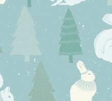 Squirrels and Christmas trees winter design Sticker