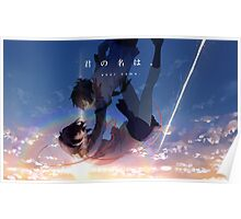 Mitsuha & Taki falling from the sky Poster
