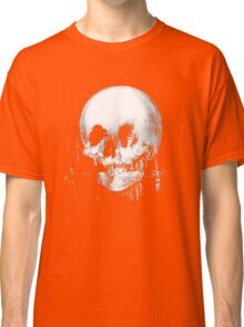 Woman with Halloween Skull Reflection In Mirror Classic T-Shirt