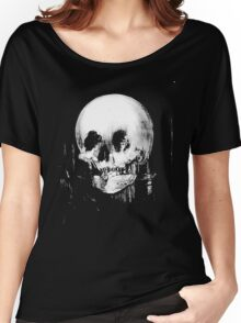 Woman with Halloween Skull Reflection In Mirror Women's Relaxed Fit T-Shirt