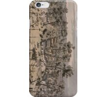 Vintage Pictorial Map of Sacramento (1850) iPhone Case/Skin