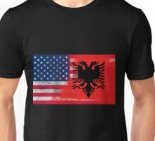 Albanian American Half Albania Half America Flag Unisex T-Shirt