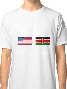 Half Kenyan Half American 100% Kenya Flag Classic T-Shirt