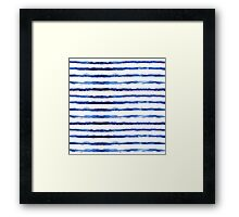 Blue grungy stripes Framed Print
