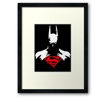 BATMAN SUPERMAN Framed Print