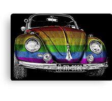 VW Beetle LGBT Canvas Print