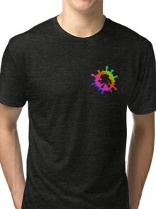 Splatoon Inkling Girl Rainbow Tri-blend T-Shirt