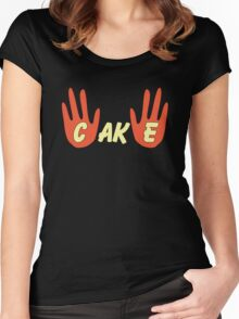 Cake (Cartoon Style) Women's Fitted Scoop T-Shirt